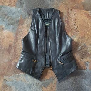 Vintage Danier Leather Black Vest
